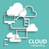Cloud Computing Concept on Different Electronic Stock Images