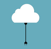 Cloud Computing Concept on Different Electronic Devices. Vector Stock Photos