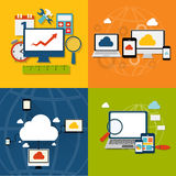 Cloud Computing Concept on Different Electronic Stock Photography