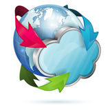 Global Access and Cloud Computing Concept Royalty Free Stock Image
