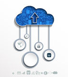 Cloud computing concept with icons. Stock Images