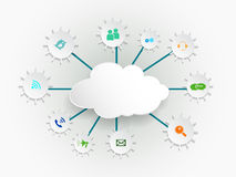 Cloud computing concept with icons. Royalty Free Stock Images