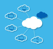 Cloud computing concept with icons Royalty Free Stock Photo