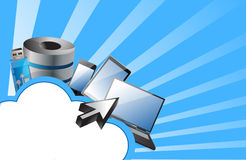 Cloud computing concept illustration design Royalty Free Stock Photos