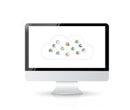 Cloud Computing Concept illustration design Stock Photography