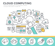 Cloud computing concept illustration. Royalty Free Stock Images