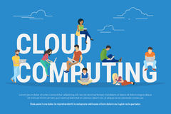 Cloud computing concept illustration Royalty Free Stock Photography