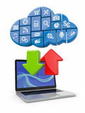 Cloud computing. Concept image. Royalty Free Stock Photos