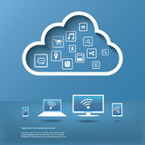Cloud computing concept infographics Royalty Free Stock Photography