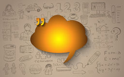 Cloud Computing concept with infographics sketch set: design. Elements isolated,  shapes. It include lots of icons included graphs, stats, devices,laptops Stock Photography