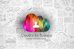 Cloud Computing concept with infographics sketch set Royalty Free Stock Photography