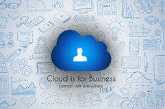 Cloud Computing concept with infographics sketch set: design Stock Image