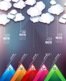 Cloud Computing concept with infographics Stock Image