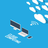 Cloud computing concept infographics. Technology Stock Images