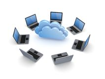 Cloud computing concept. Royalty Free Stock Photo