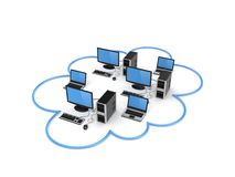 Cloud computing concept. Royalty Free Stock Image