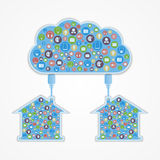 Cloud computing concept. Modern design template. Royalty Free Stock Image