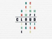 Cloud computing concept: Cloud in Crossword Puzzle Stock Images