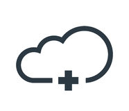 Cloud Computing Concept with Plus Icon. Design Stock Photography