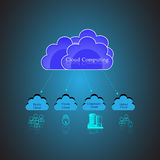 Cloud computing Concept and public, private, hybrid cloud Royalty Free Stock Photo