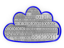 Cloud computing concept render Stock Image