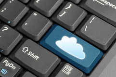 Cloud computing concept showing cloud icon Royalty Free Stock Images