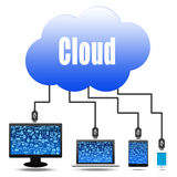 Cloud computing concept with social Royalty Free Stock Image