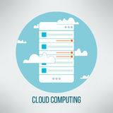 Cloud computing concept suitable for business. Presentation. Mobile application web template. Vector Stock Photos
