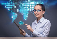 The cloud computing concept in technology collage Stock Photo