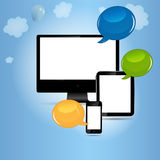 Cloud computing concept vector illustration Stock Photo
