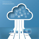 Cloud computing concept vector illustration Royalty Free Stock Photos