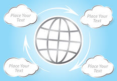 Cloud computing concept Vector illustration Earth background Stock Photography