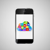 Cloud Computing Concept Vector Illustration Stock Image