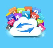 Cloud Computing Concept Vector Illustration Royalty Free Stock Photography