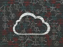 Cloud computing concept: Cloud on wall background Royalty Free Stock Photos