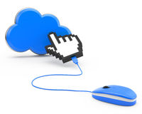 Cloud computing concept Stock Image