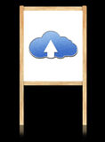 Cloud computing concept on white board. With wooden frame Royalty Free Illustration