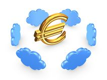 Cloud computing concept. On white.3d rendered royalty free stock photography