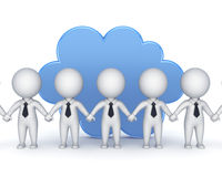 Cloud computing concept. Cloud computing concept,  on white.3d rendered Stock Photos
