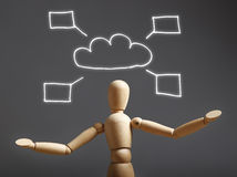 Cloud computing concept - world wide data sharing Stock Photography
