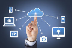 Cloud Computing Concepts Touching Stock Photography