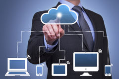 Cloud Computing Concepts Royalty Free Stock Images