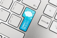 Cloud Computing Connect Button. Connect to cloud computing concept showing on computer key Stock Image