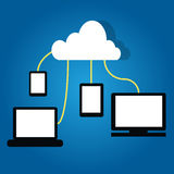 Cloud computing  connected device together Stock Photography