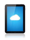 Cloud Computing Connection on Apple Ipad. Cloud computing connection on digital tablet pc. Conceptual image. Isolated on white Stock Image