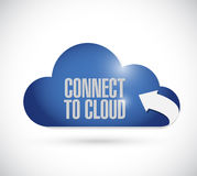 Cloud computing connection concept illustration Stock Photo