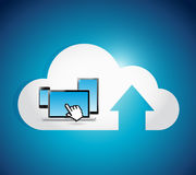 Cloud computing connection electronics concept. Stock Photography