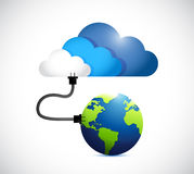 Cloud computing connection. globe and cloud Royalty Free Stock Photography