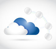 Cloud computing and connection link diagram Royalty Free Stock Photos