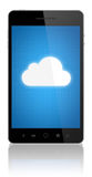 Cloud Computing Connection On Mobile Phone Royalty Free Stock Image